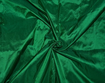 Fine Indian Silk taffeta in  Green - Fat quarter -TF 71