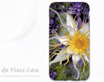 Lotus Flower iPhone 6 Plus / 6s Plus Case - Green and Purple Apple iPhone 6 Plus Case with Dual Layer Protection - Bali Dream Flower