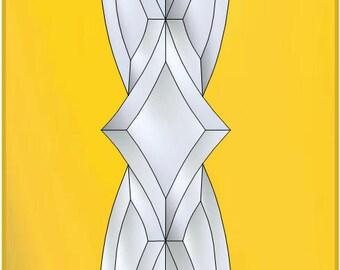 "4""  x 26"" - Beveled Glass Cluster"