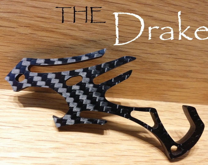 Carbon Fiber Chinese Dragon Pocket Clip Bottle Opener -Minimalist iPhone Travel Cell Phone Stand, Novelty Keychain Tool, Gift for Him, Drake