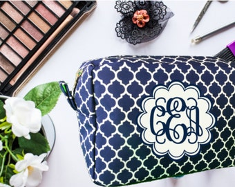 Valentine's Day, Makeup Bag, Cosmetic Bag, Personalized Makeup Bag, Bridesmaid Gift, Monogrammed Makeup Bag, Mother's Day Gift, Toiletry Bag