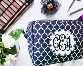 Makeup Bag, Cosmetic Bag, Mother's Day Gift,  Bridesmaid Gift, Monogrammed Makeup Bag, Toiletry Bag