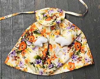 Mini Goose Clothes Complete Holiday Goose Outfit Spring Floral Dress and Hat