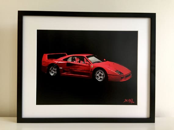 Ferrari F40 Limited Edition Framed Print Cars Painting