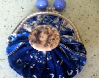 purse vintage retro little girl once