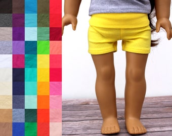 Fits like American Girl Doll Clothes - Yoga Shorts, You Choose Colors | 18 Inch Doll Clothes