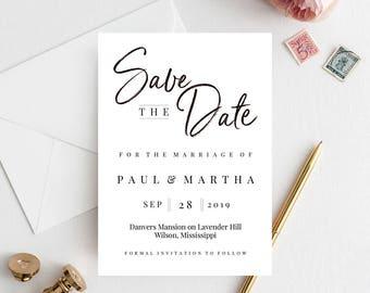 Wedding Save Date, Save The Date, Custom Save The Date, Modern Save The Date, Diy Save The Date, Save The Date Invite, Save Date Template