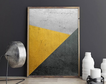 Geometric Art, Geometric Print, Silver and Gold Art, Contemporary Art, Modern Wall Decor, Minimalist Art, Minimalist Decor, Instant Download