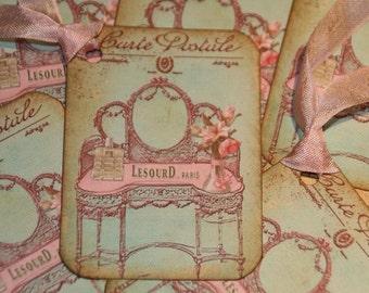 Carte Postale Pretty Pink Paris Gift Tags