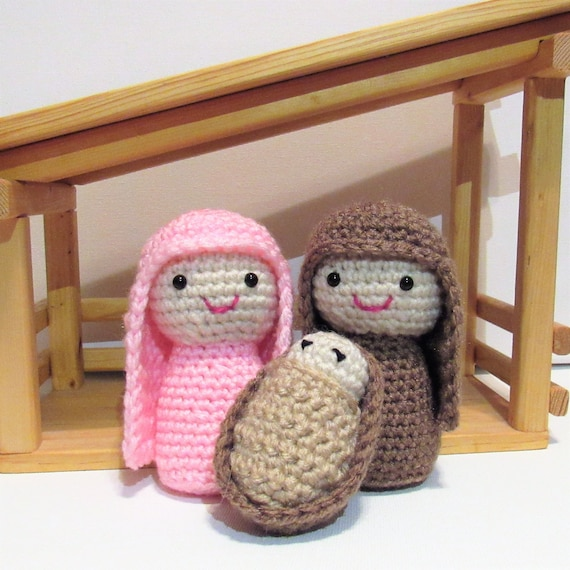 Crochet Nativity Pattern Crochet Christmas Pattern Crochet Baby