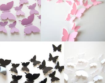 12pcs PVC 3D Butterfly Home Décor / Wall Decoration / Photography Ornaments  / Photography Props