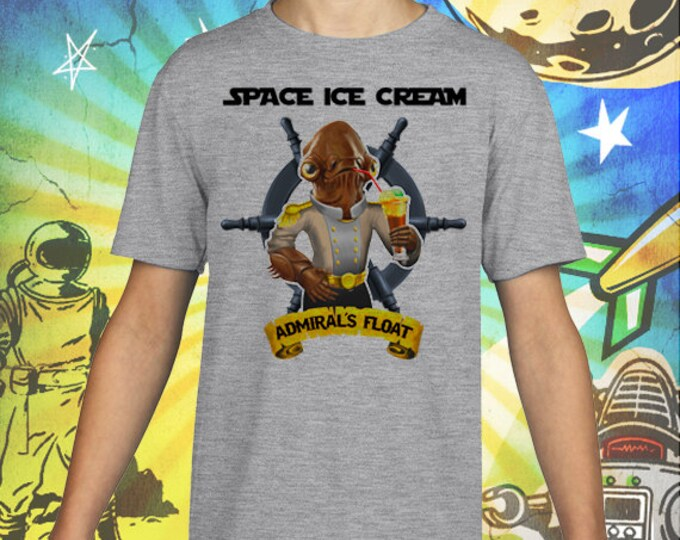 Star Wars / Admiral Ackbar / Admiral's Ice Cream Float / Gray Child Size Performance T-Shirt