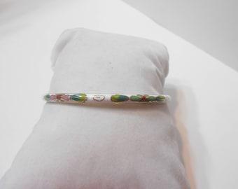 Vintage White Enamel Bangle Bracelet (0124)