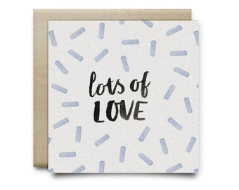Lots of Love Small Greeting Card