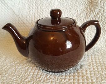 Chubby 1960's Little Brown Teapot