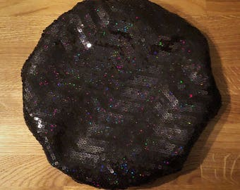 Lined Handmade Sequin Beret. Made To Order