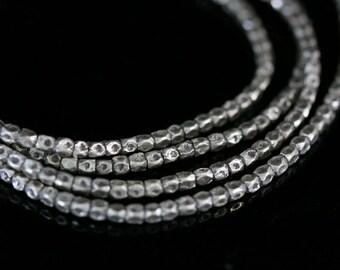 KL-006 thai karen hill tribe handmade silver 100 mini facet bead