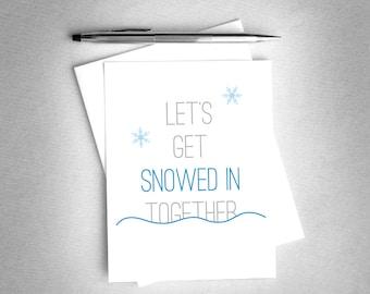 Romantic Christmas Card. Romantic Holiday Card. Printable Card. Christmas Card for Husband / Boyfriend / Wife / Girlfriend. Digital Download