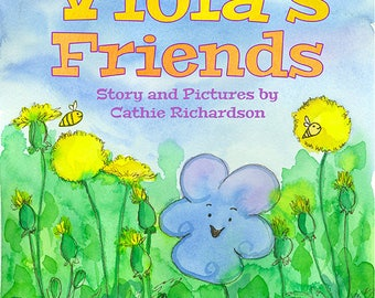 Children's Picture Book Spring Flower Garden Bees Butterfly Bugs Dandelions Viola