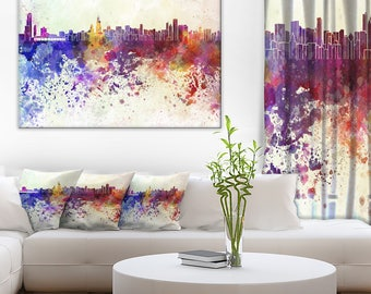 Chicago Skyline - Cityscape Canvas and Metal Art Print - (PT6542)