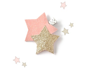 Star Headband or Hair Clip - Glitter Star Hair Accessory - Toddler Headband