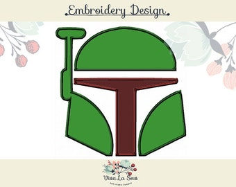 Boba Fett / Jango Fett Star Wars Embroidery Applique Design