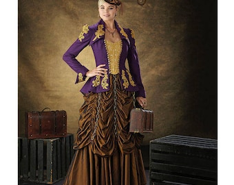 Sewing Pattern-Simplicity 1248-Steampunk Coat, Corset and Skirt-Size 6-12 Out of Print