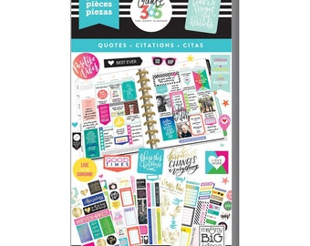 Quote Planner Sticker 427/Pkg Create 365 Happy Planner Sticker Value Pack (PPSV-08)