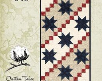 Stars and Stripes Quilted Runner Pattern