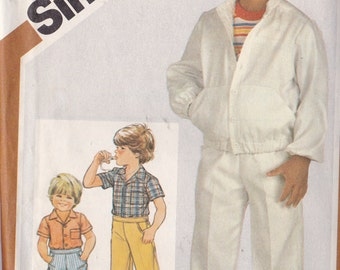 Simplicity 5869 CLEARANCE Vintage Pattern Little Boys Pants, Shorts, Shirt and Unlined Jacket Size 6 UNCUT