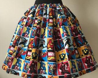 Ladies or girls Marvel Comics full skater style skirt
