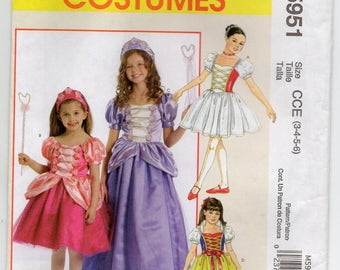Storybook Princess Queen Fairy Pageant Gown Halloween Girl's Size 3 4 5 6 Children's Costume Sewing Pattern McCall's 5951