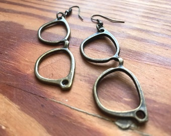Eye Glass Frame Earrings