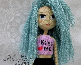 Crochet doll, Amigurumi doll, Art doll, handmade doll, doll