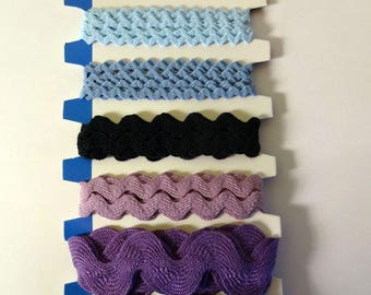 Blue wavy ribbons (6x1m) Artemio - sewing, scrapbooking, deco