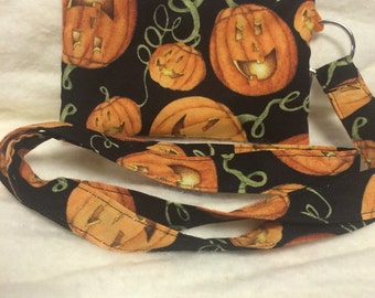 Halloween Holiday Pumpkin Coin Purse and Lanyard