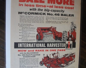 FARM 125   McCormick No. 46 Baler Ad   -  May 1959