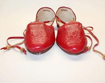 SALE size 38-Red ballet flats, leather ballet flats .Leather ballet flats   leather ! Womens flats leather womens slip ons, red ballet shoes