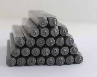 Metal Stamp Set-by Steel Stamps- Lowercase Stylish Italic Alphabet Metal Stamp Set-3mm or 1/8 in. by Metal Supply Chick