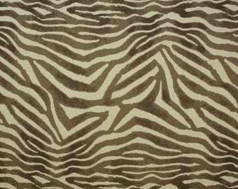 CLARENCE HOUSE MANDARI Animal Print Linen Fabric 10 Yards Brown