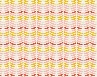 Blush - Retro Petals Powder - Dana Willard - Art Gallery Fabrics - Fabric By the Half Yard