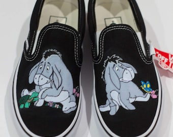 Eeyore Inspired Hand Painted Vans Shoes