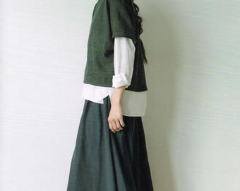 Simple Basic Japanese Style Dress Pattern, Aoi Koda, Japanese Sewing Pattern Book, Women Clothing, Dress, Pants, Skirt, Easy Tutorial, B1884