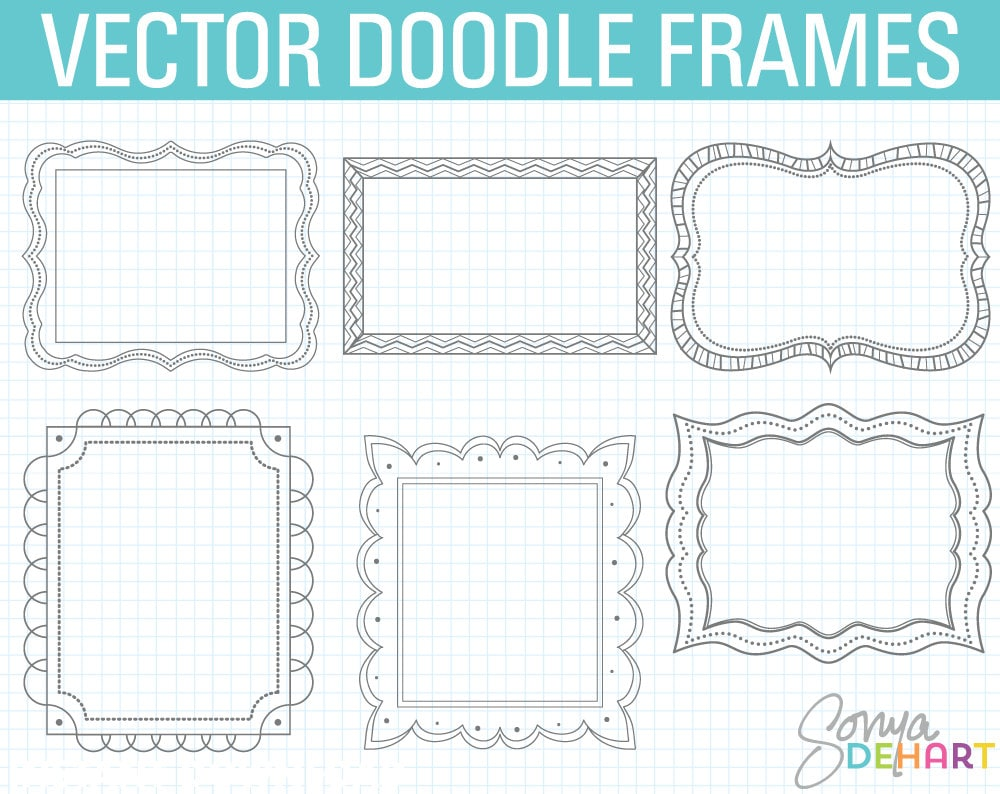 Doodle Frames Frame Clipart Doodle Clipart Hand Drawn