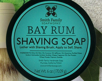 Bay Rum Shaving Soap with Olive Oil in Jar