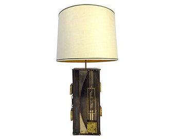 Brutalist Lamp by Curtis Jere, Signed.