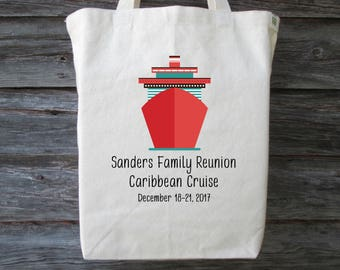 Family Reunion Tote, Family Cruise Tote, Cruise Tote, Beach Tote, Family Reunion Gift Bag, Family Vacation Tote