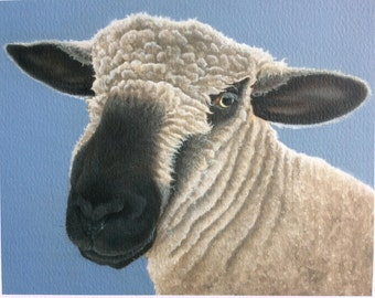 "sheep painting ""Myfanwy"""
