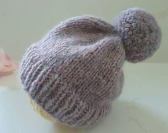 Newborn Knit Hat/Newborn Beanie/Hand Knit Baby Hat