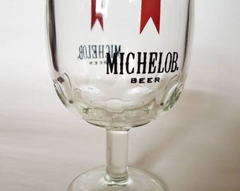 1970's Michelob Beer Chalice/Goblet/Glass, Vintage Barware Advertising